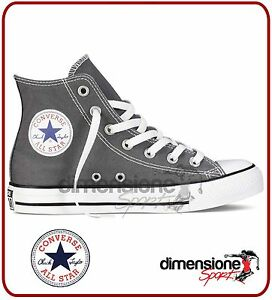 CONVERSE-ALL-STAR-ALTE-TG-39-US-6-grigio-1J793-SEASONAL-CANVAS-CHARCOAL-SHOES