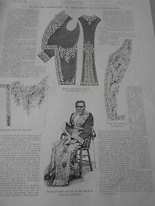 Adroit Gravure 1896 La Tenue De Cérémonie Du Président De La République