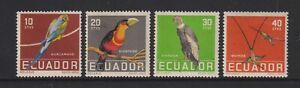 Ecuador - 1958, Tropical Birds set - In Natural Colours - M/M - SG 1096/9