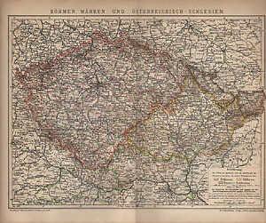 Landkarte-map-1901-BOHMEN-MAHREN-UND-OSTERREICHISCH-SCHLESIEN