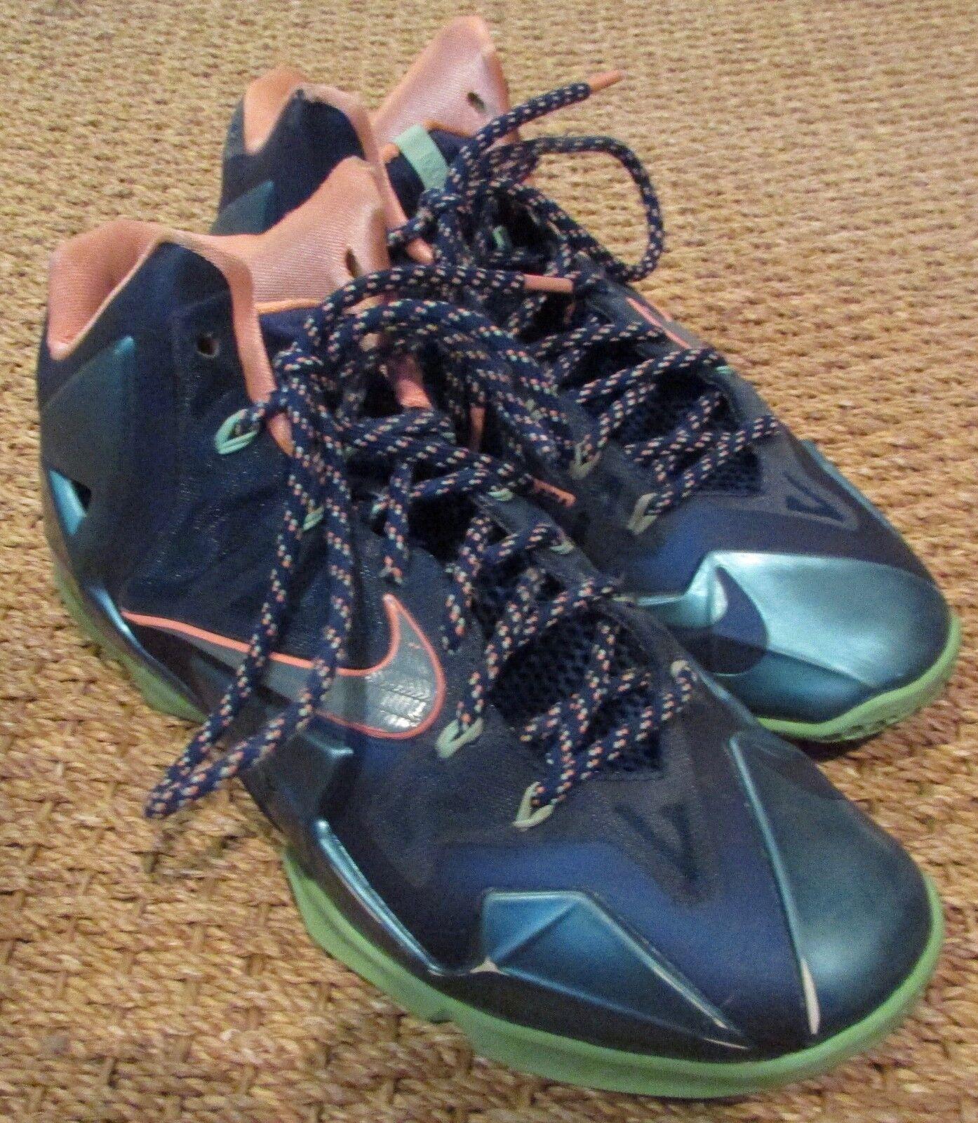 2018 Nike Lebron 11 XI Akron Vs Miami Men's Basketball Shoes 616175-400 SZ 12