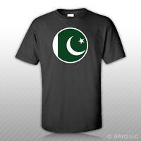 Round Pakistani Flag T-shirt Tee Shirt Free Sticker Pakistan Pak Pk