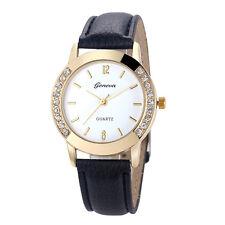Montre montre Femmes Dames De Luxe Diamant En Cuir Bracelet À Quartz