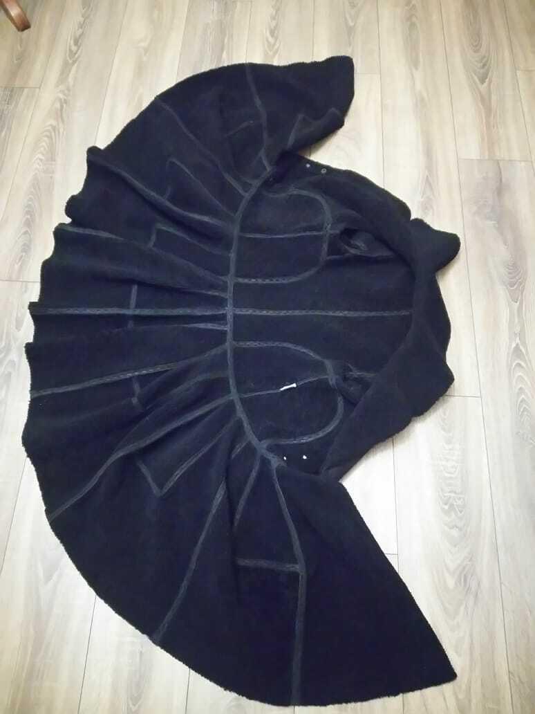 Alaia black  suede-Leather Shearling Princess Ple… - image 10