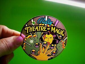 Theatre-Of-Magic-Pinball-Plastic-Keychain-Bally-Original-Promo-Magician-Women