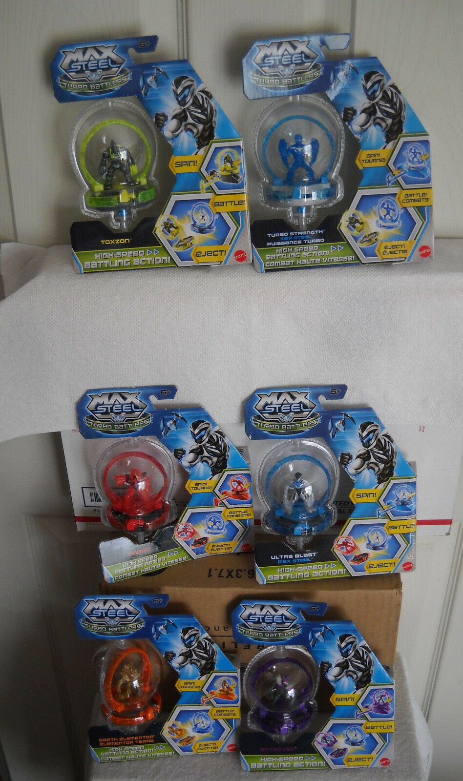 3060 NOC Mattel Max Steel 6 Turbo Battlers