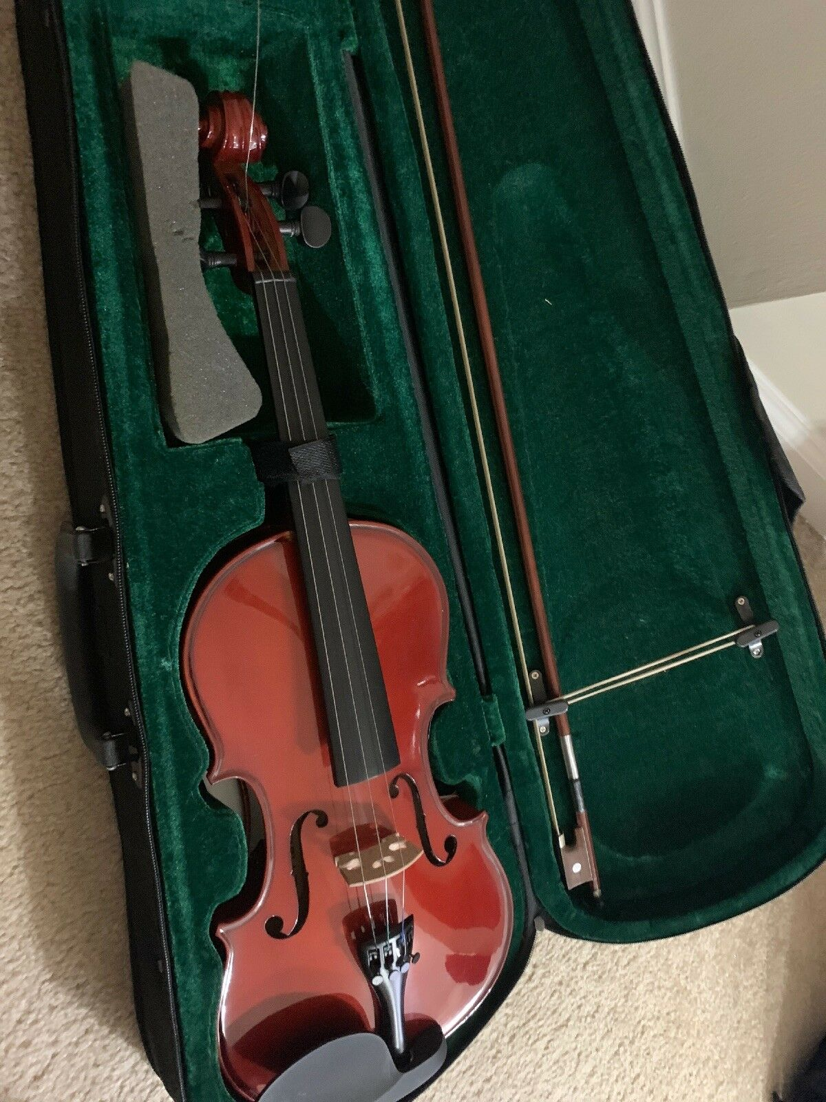 Barely used Violin. One string missing.