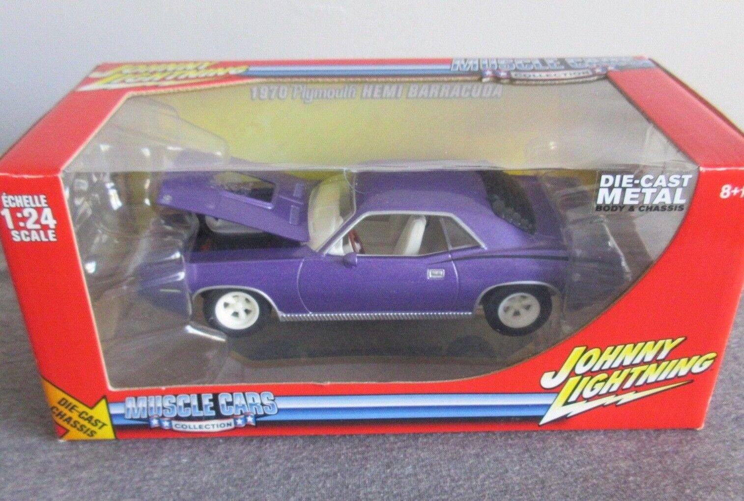 Für johnny lightning weiß wl 1970 hemi cuda - 1   24 druckguss muscle - car vhtf