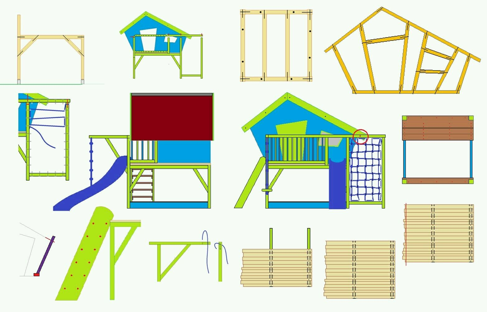 bauanleitung kinderspielhaus, bauplan | ebay