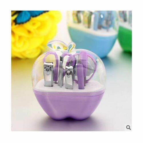 Violet Apple Nail Care Cutter Cuticule tondeuses Pédicure manucure Toilettage Set UK
