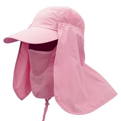 Top Outdoor Sun Shield Neck Face Mask Mesh Floppy Flap Hat Cap Visor SunbonnetES