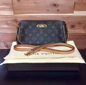 Image Is Loading 100 Authentic Louis Vuitton Eva Monogram Clutch With