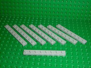 8-x-LEGO-Oldgray-Plate-1-x-8-ref-3460-Set-1651-7823-373-10130-9364-10027-9609