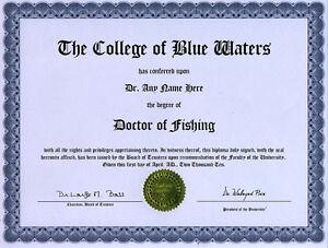 Doctor Antique Maritime Folk Art Novelty Diploma