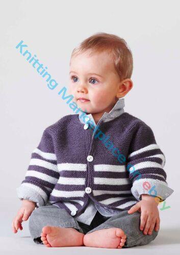 P0109 Knitting Pattern 4 sizes Baby//Toddler Cardigan