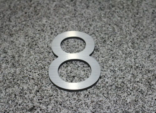 Large Modern Metal House Numbers 6-12 Inches Tall
