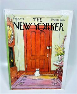 LOT OF 6 The New Yorker - Feb. 4,1974 - By George Booth - Greeting Card