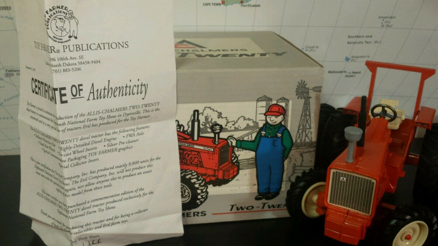 Ertl Allis Chalmers 220 w FWA 1 16 diecast farm tractor replica collectible