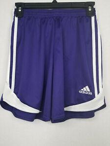 Adidas Women's Three Stripe Climacool Athletic Shorts Purple White ...