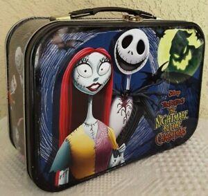 Disney Tim Burton's Nightmare Before Christmas Jack & Sally Tin Tote Lunch Box   eBay