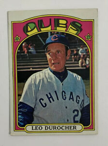 1972 Topps Leo Durocher # 576 Baseball Card Chicago Cubs Manager HOF