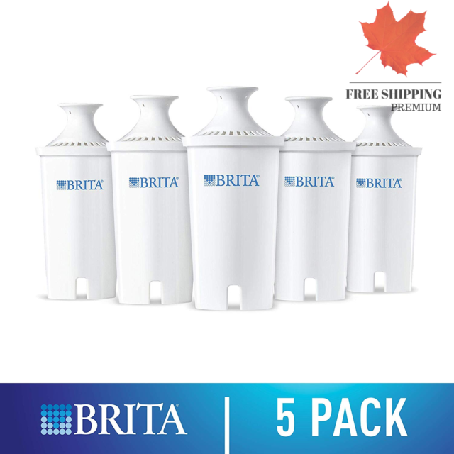 Brita Advanced Water Pitcher w/ 5 Replacement Filters For Home Clean Drinking