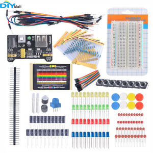 Electronic-Fans-Kit-Breadboard-Cable-Resistor-Capacitor-LED-Potentiometer