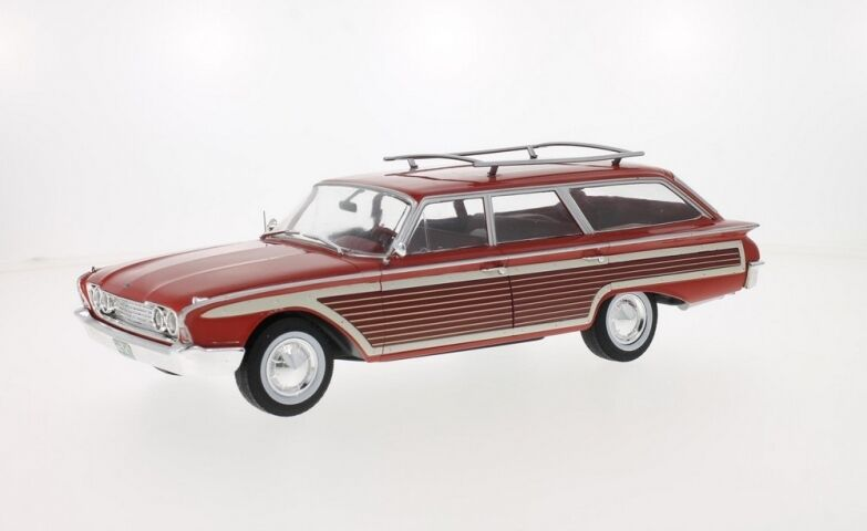 MDG MDG18074 Ford Country Squire rouge / bois bois bois 1960  1/18 | Emballage Solide  935d06