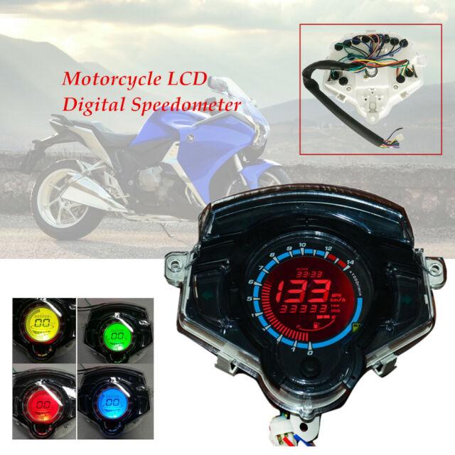 Dc12v 14000 Rpm Abs Motorcycle Bike Lcd Digital Odometer