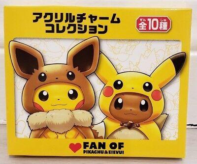 Pokemon Center FAN OF PIKACHU /& EEVEE Acrylic Charm Key Chain Slowpoke