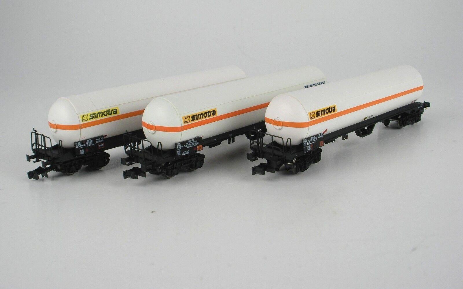 LS Models 60135 Set 3x SNCF 4achs Kesselwag Uas SIMOTRA weiß orang Ep4-5 NEUOVP  | Trendy