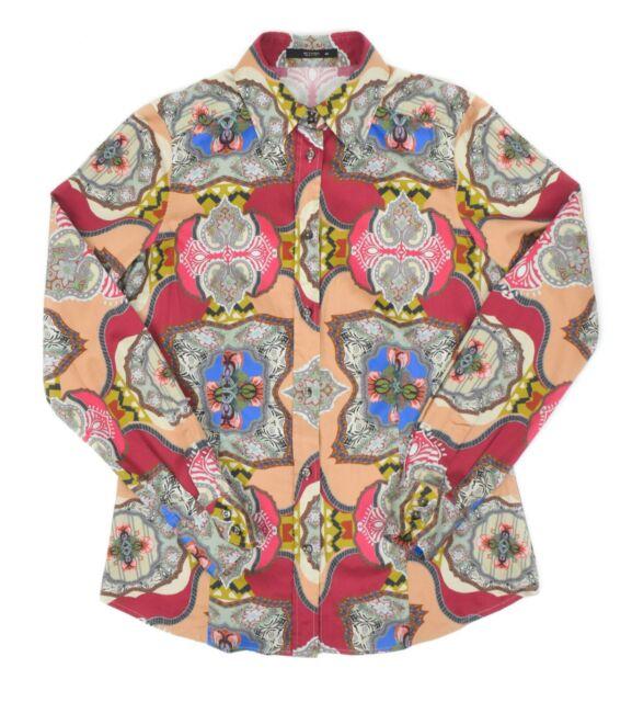 Womens ETRO Milano Paisley Print Shirt Button Down Floral Size IT40 / UK8