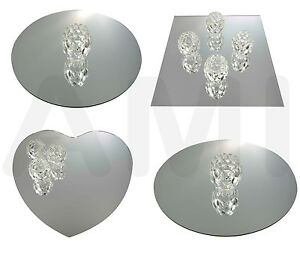 Image Is Loading SQUARE ROUND OR HEART MIRRORS WEDDING TABLE DECORATION