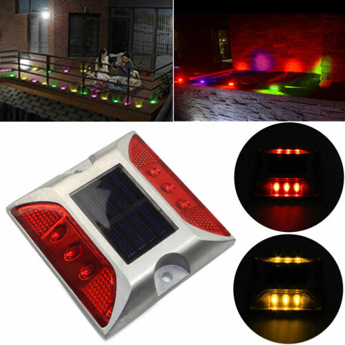 Solar Powered LED Pathway Driveway Light Dock Path Step Road Safety Lamp