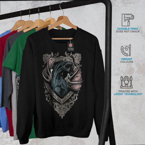 Pullover Creature Dragon Black para Death Jumper Wellcoda Sudadera mujer Beast Casual 4xnWZI8g