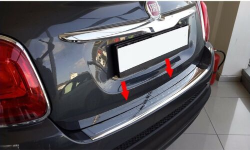 Fiat 500X 2015Up Chrome Rear Bumper Protector Scratch Guard S.Steel
