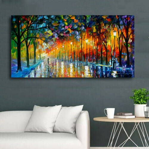 Abstract Night View Scene Canvas Painting Oil  Print Wall Art Picture Home Decor