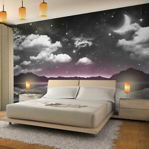 Details zu Vlies Fototapete 3D Effekt Nacht Himmel Mond Tapete Wandbild XXL  Schlafzimmer