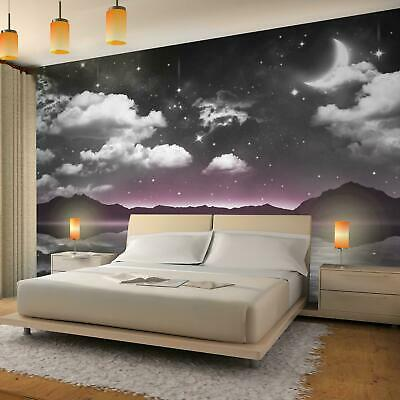 Vlies Fototapete 3D Effekt Nacht Himmel Mond Tapete Wandbild XXL  Schlafzimmer | eBay