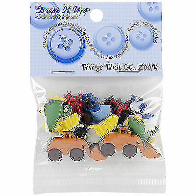 10 PIECES CRAFTS//CARDMAKING THINGS THAT GO ZOOM DRESS IT UP BUTTONS