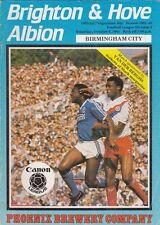 Brighton & Hove Albion V Birmingham City 1984/85 Divisione 2 programma OTT 6th