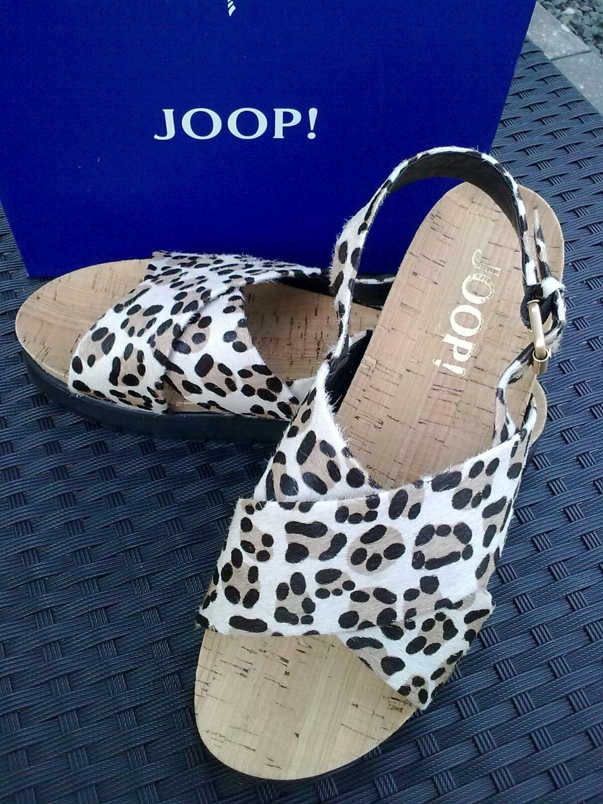 Joop Sandale, Schuhe, Plateau Sandale, Leder, Neu, Gr. 41 / 7