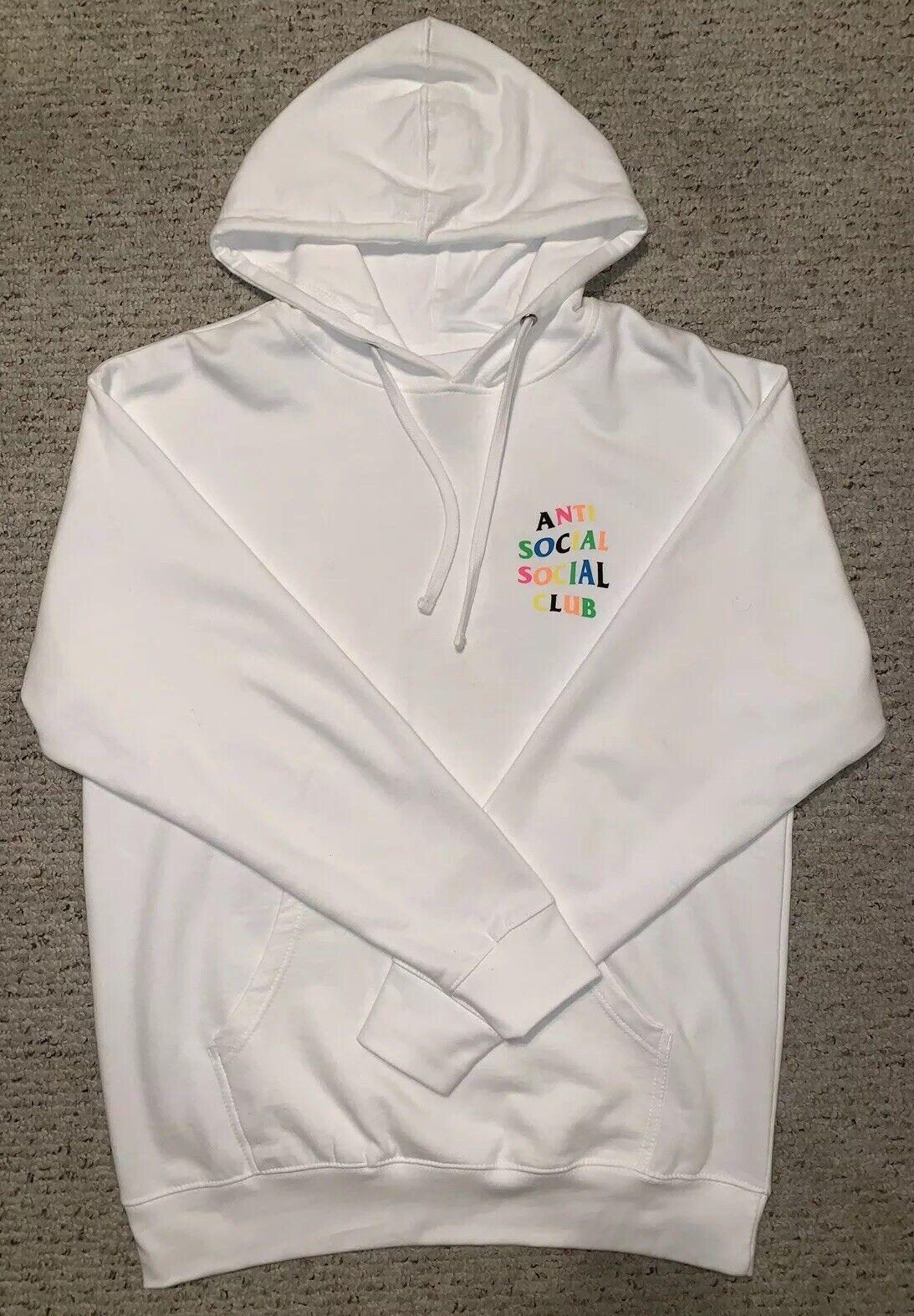 ASSC Anti Social Social Club Rainy Dayz Weiß Rainbow Hoodie groß Multi 1 2 3 4