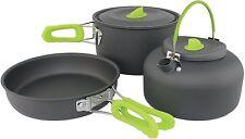 Yellowstone 3pcs Anodised Aluminium Cook Set Snowdonia Pot & Lid Fry Pan Kettle