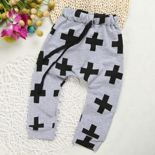 Baby Boys Girls Toddler Harem Pants Casual Cartoon Jogging Sweatpants Trousers