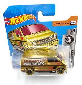 Hot-wheels-custom-77-dodge-van-super-chromes-4-5-nuevo-sin-uso-mattel