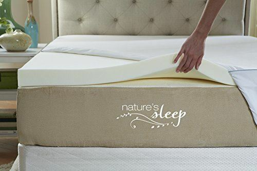 """Nature/'s Sleep Cool IQ 2.5/"""" Thick 3.5 Pound Density Memory Foam Topper"""