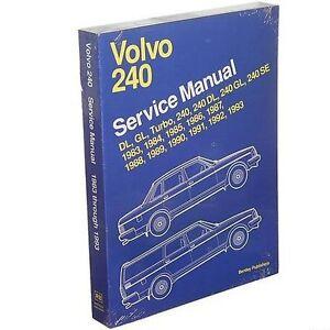 service repair manual book volvo 240 83 93 shop turbo ebay rh ebay com volvo 240 service manual free download volvo 240 service manual
