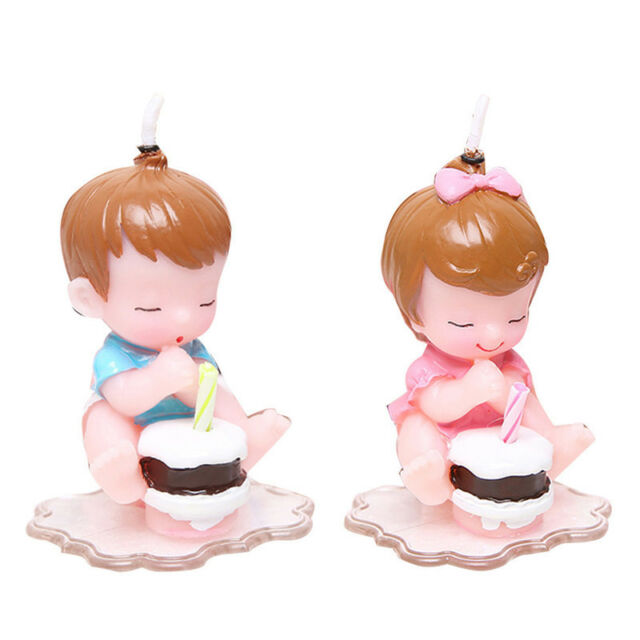 Make a Wish Baby Happy Birthday Candle Cake Topper Baby Shower Party Decor Gift