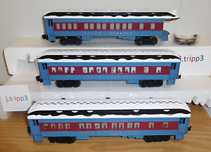 Lionel 6 84328 Polar Express 3 Passenger Car Set Train O Gauge